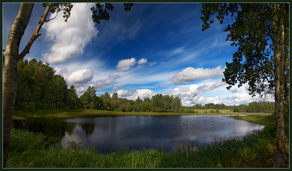 "photo ""Penorama 7. Barskiy Pond."" tags: landscape, clouds, water"