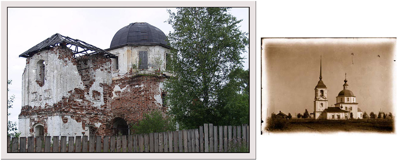 """фото """"100 лет спустя Пятницкая церьковь."""" метки: город,"""