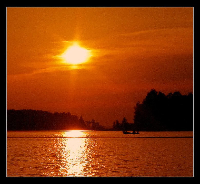 "фото ""Один закат в августе"" метки: пейзаж, вода, закат"