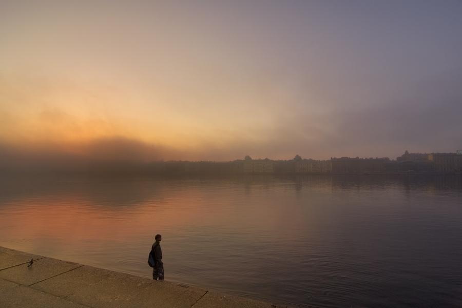 """фото """"Рассвет для двоих"""" метки: пейзаж, город, закат"""