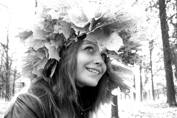 """фото """"Осенее настроение"""" метки: портрет, черно-белые, женщина"""