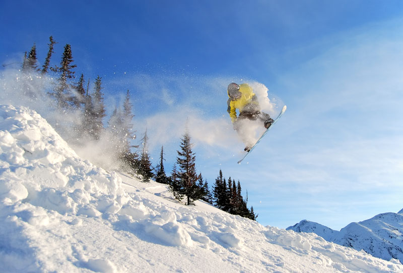 "photo ""Flying freerider"" tags: sport, landscape, winter"