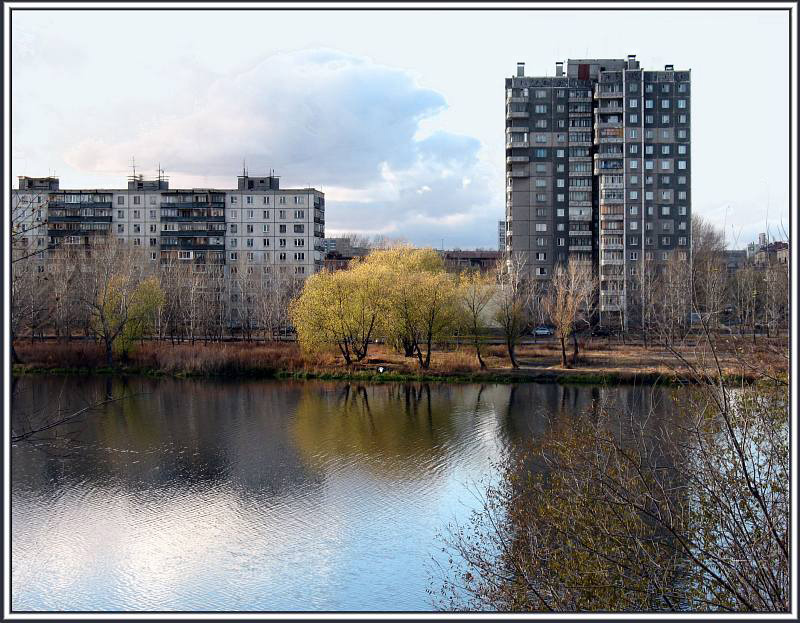 "photo ""Autumn 2007 in Chelyabinsk"" tags: architecture, landscape,"