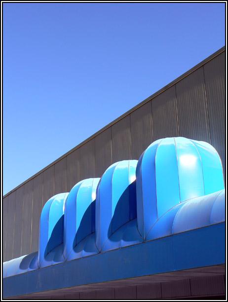 """photo """"Some Blues"""" tags: architecture, city, landscape,"""