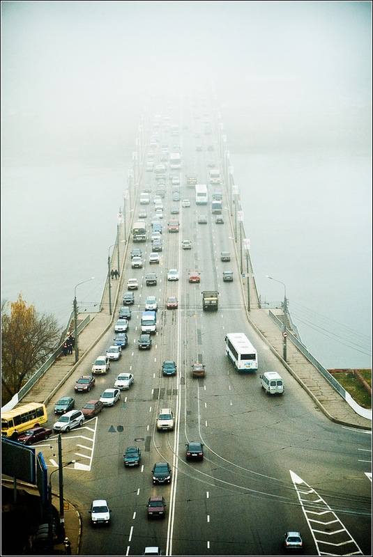 "photo ""Foggy prospect"" tags: landscape, city,"