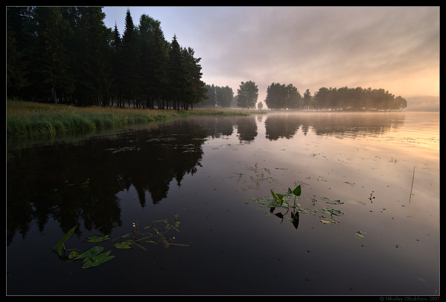 "photo ""Chernoistochinsk / 0172_0138"" tags: landscape, fog, summer, sunrise"