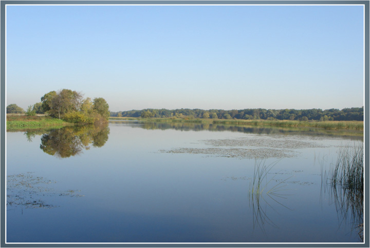 """photo """"Old channel of the Great river"""" tags: landscape, water"""
