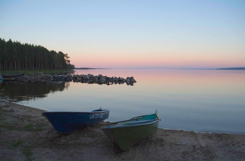 """фото """"жемчужный закат"""" метки: пейзаж, вода, закат"""