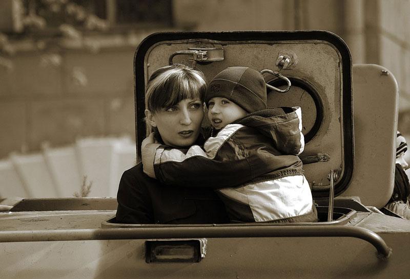 """фото """"Водитель БТР 1-го класса с женой"""" метки: жанр,"""