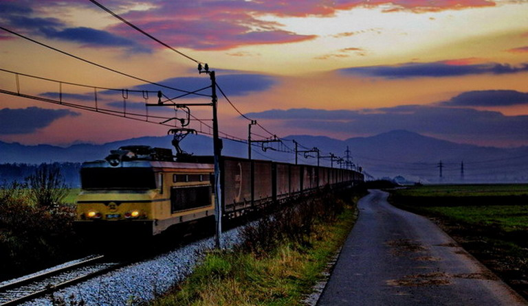"фото ""Night Train"" метки: пейзаж, закат"