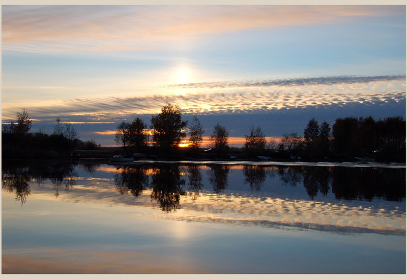 "photo ""Mirror -ilusion or reality"" tags: landscape, autumn, sunset"