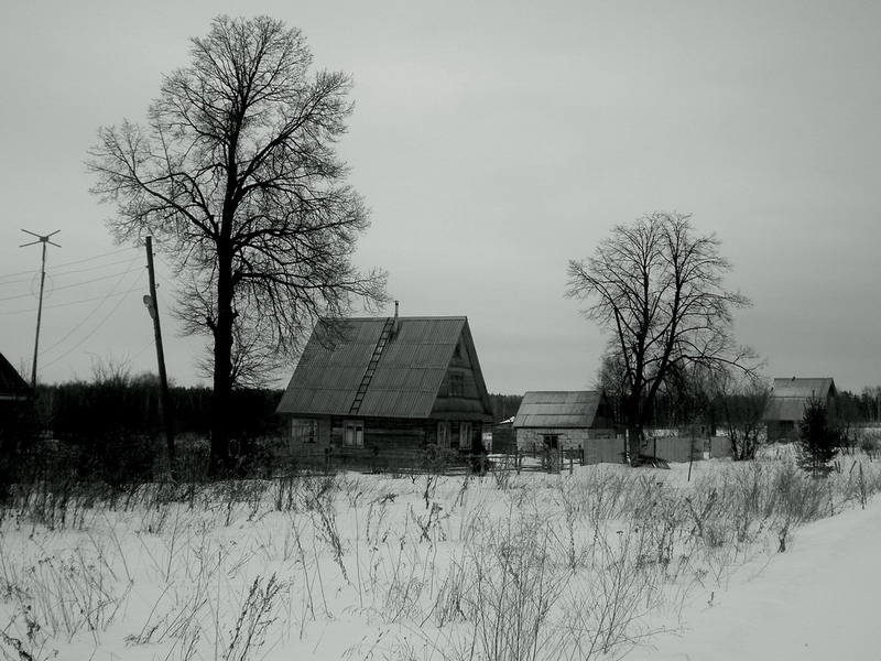 "photo ""Russian countryside"" tags: black&white,"