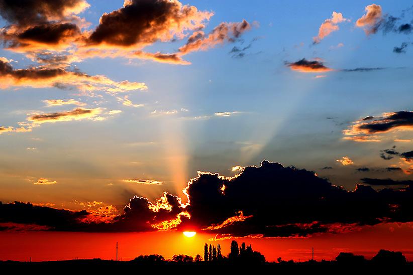 """фото """"закат в июле"""" метки: пейзаж, закат"""