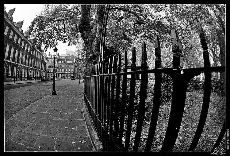 "photo ""London / Bedford Square"" tags: architecture, black&white, landscape,"