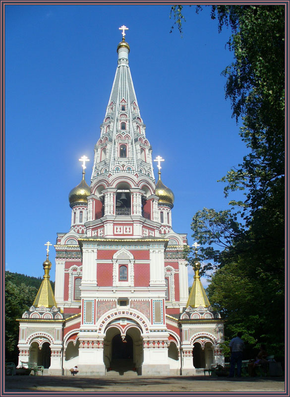 "photo ""Russian church-monument at Shipka"" tags: architecture, landscape, summer"