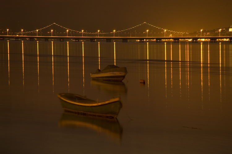 "photo ""River Tagus"" tags: landscape, night"