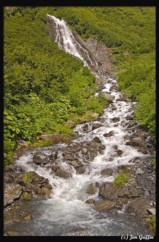 "photo ""Valdez waterfall 1"" tags: landscape, summer, water"