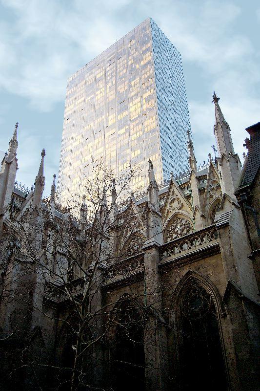 "photo ""Gothic vs Modern"" tags: architecture, landscape,"