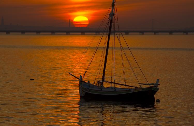 "photo ""River Tagus Estuary"" tags: landscape, water"