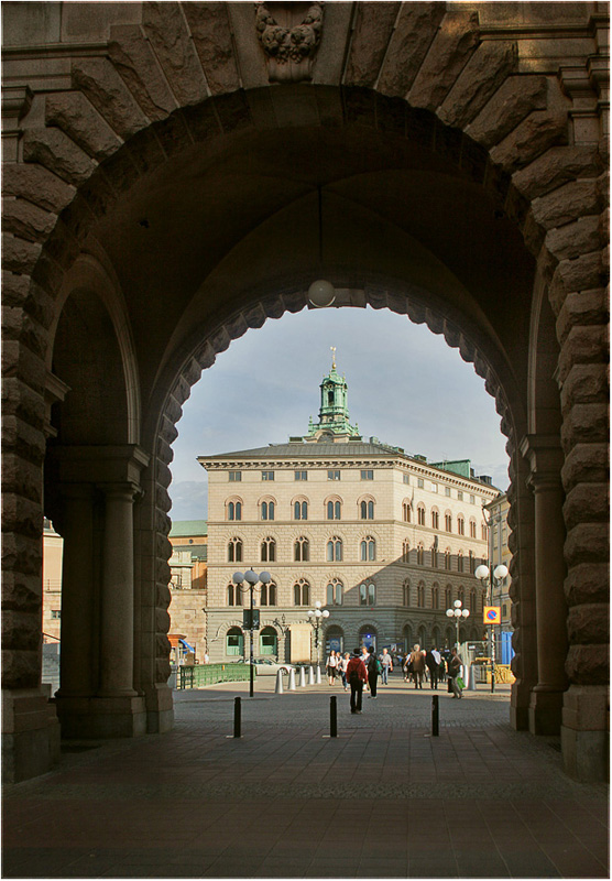 "photo ""Arch of Stockholm))"" tags: architecture, travel, landscape, Europe"