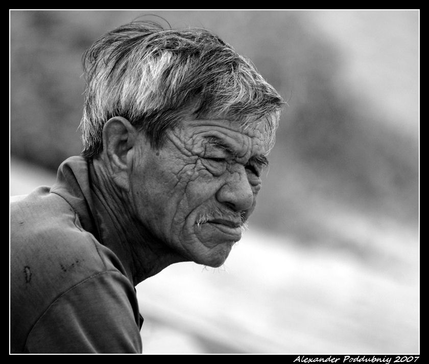 "photo ""***"" tags: black&white, portrait, man"