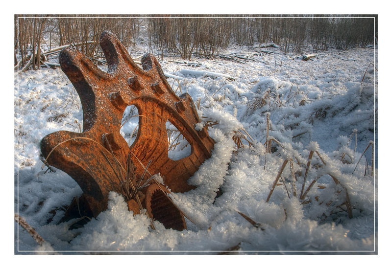 """photo """"The wreckage of civilization ..."""" tags: landscape, fragment, winter"""