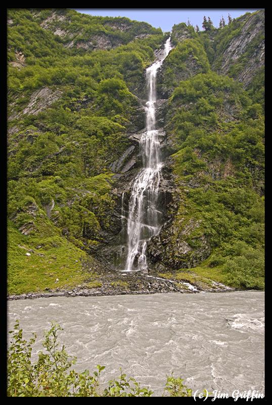"photo ""Bridalveil Falls, Valdez Alaska"" tags: landscape, summer, water"