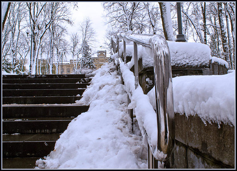 "photo ""stairway to knowledge"" tags: landscape, winter"