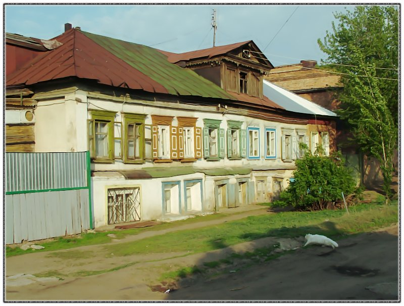 """photo """"Дома нашего городка"""" tags: architecture, landscape,"""