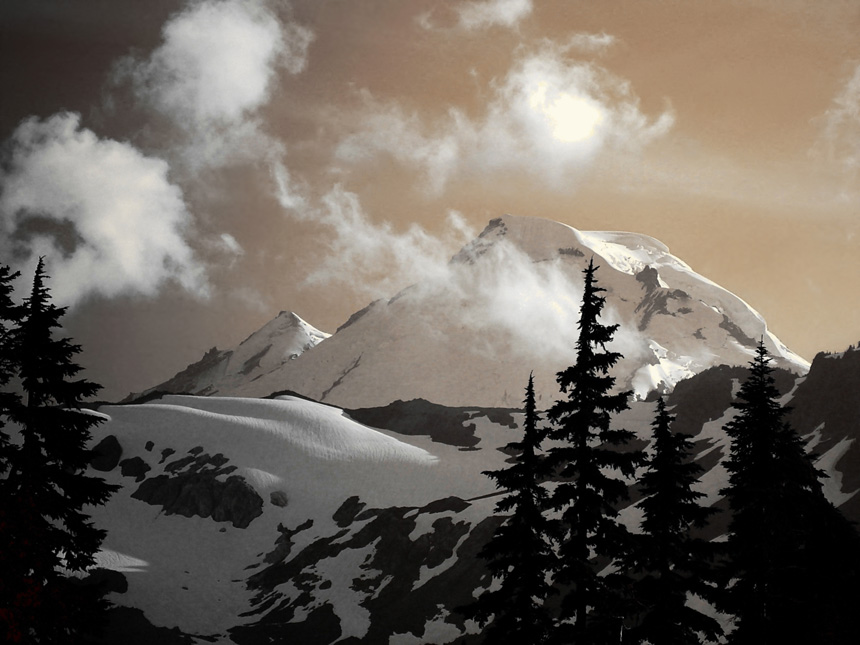 "photo ""Mt. Baker"" tags: landscape, mountains, winter"