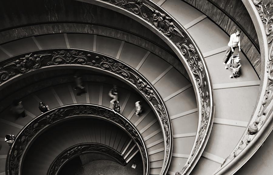 "фото ""спираль"" метки: черно-белые, путешествия, Европа"