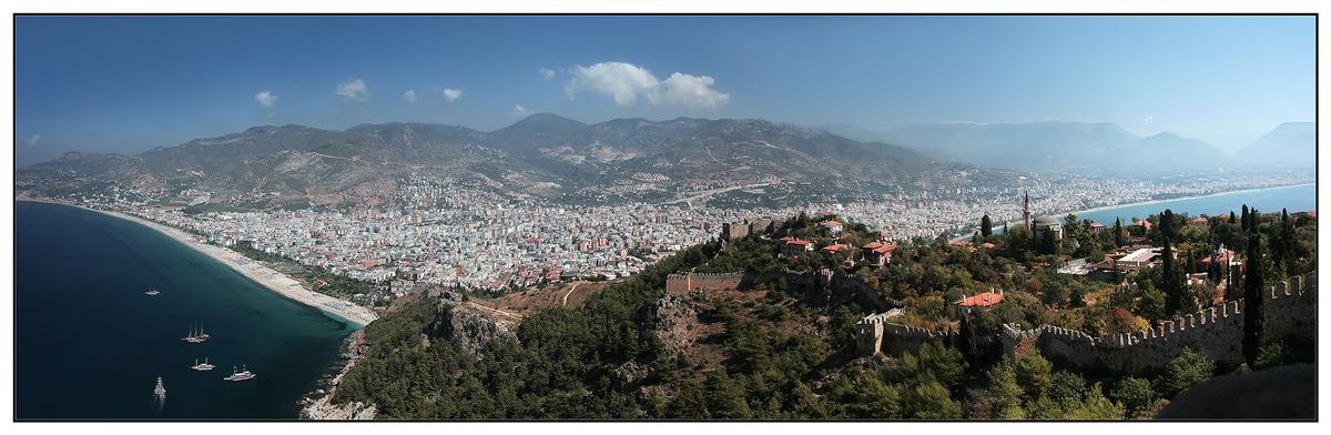"photo ""Alanija. From a gulf up to a gulf..."" tags: panoramic, landscape,"