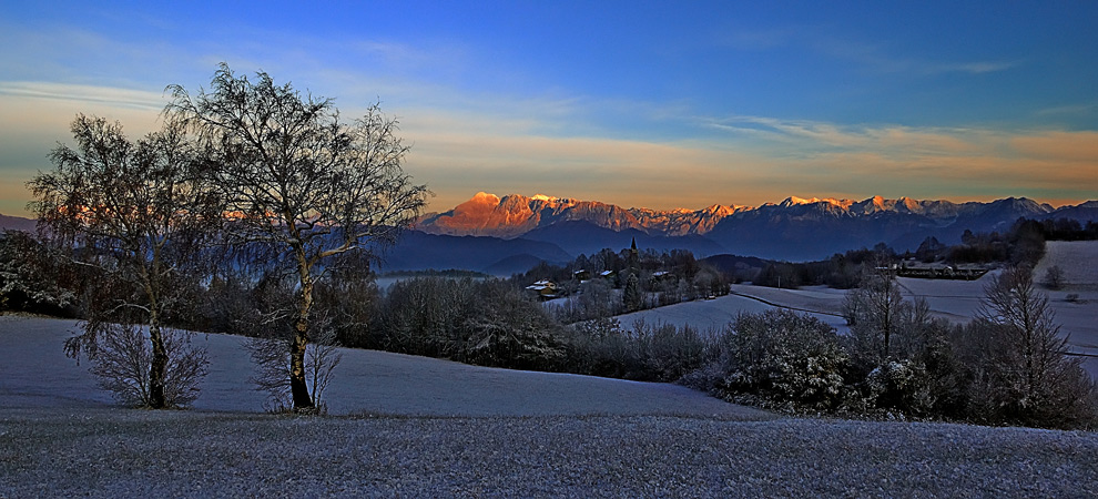 "photo ""First snow3"" tags: landscape, panoramic, winter"