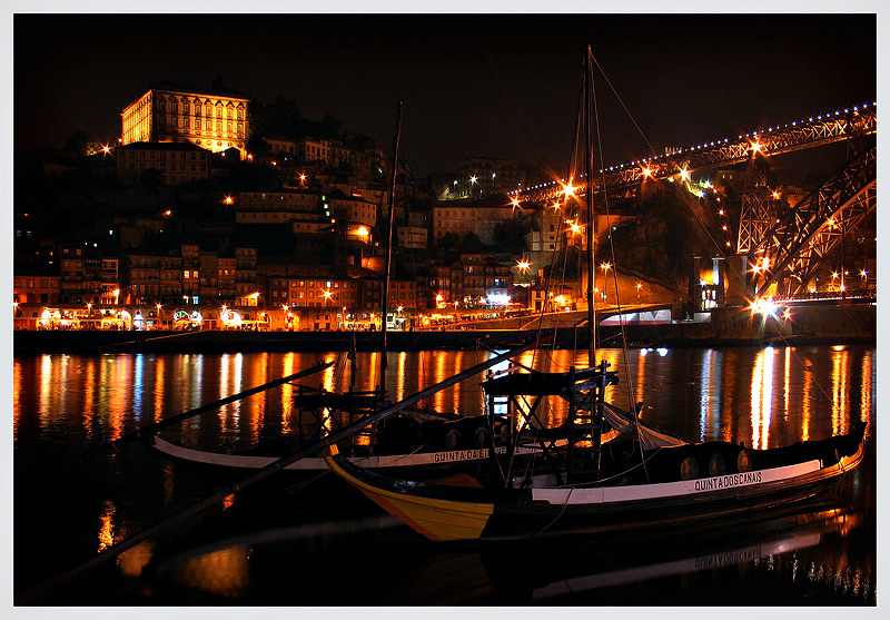 "photo ""porto by night"" tags: landscape, night"