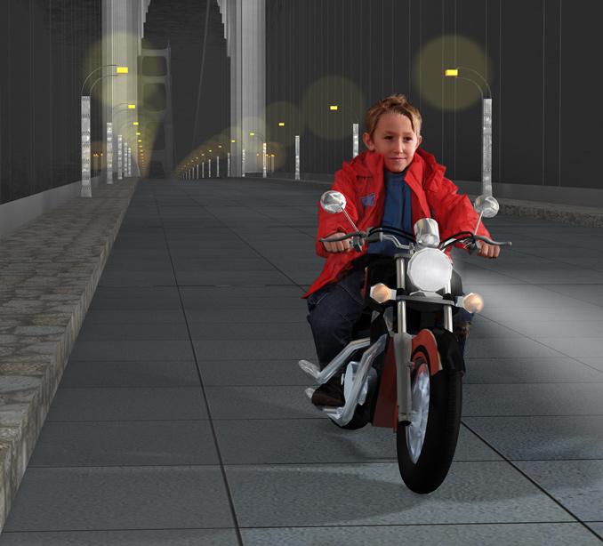 "фото ""GoodNight biker"" метки: портрет, фотомонтаж, дети"