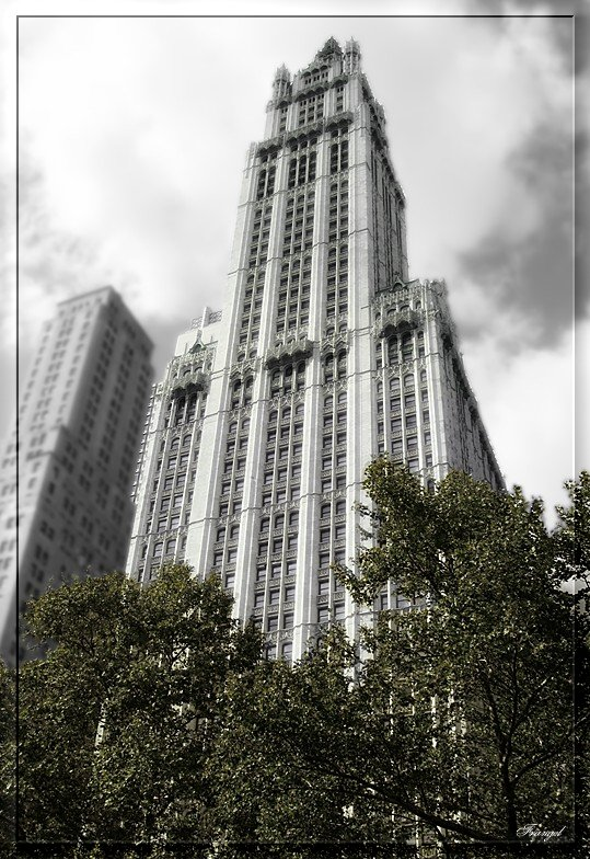 "photo ""The Woolworth Building"" tags: travel, architecture, landscape, North America"