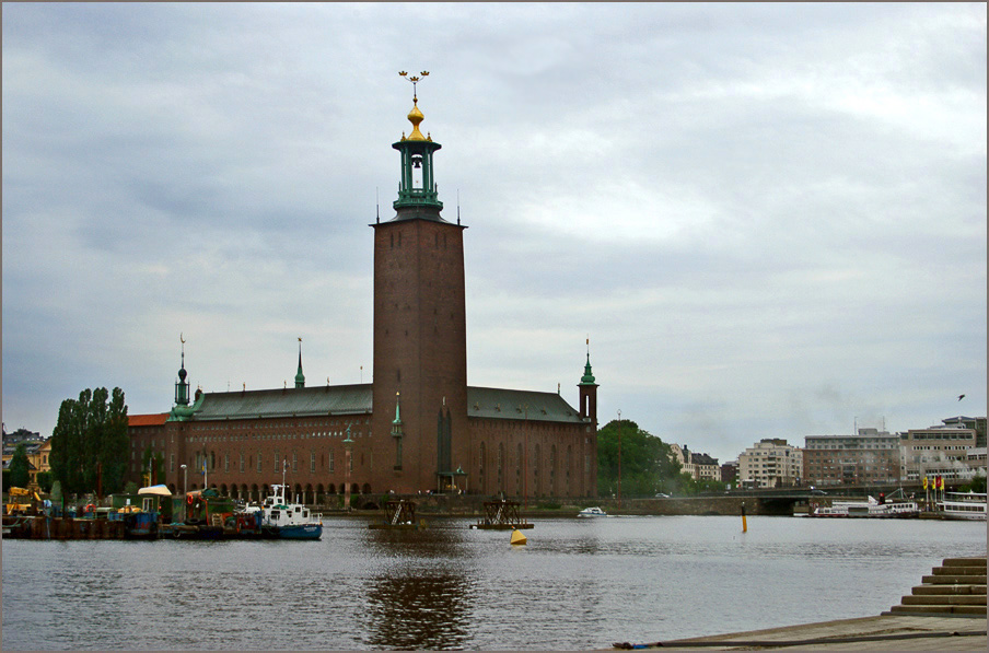 "photo ""City Hall in Stockholm"" tags: landscape, travel, Europe"