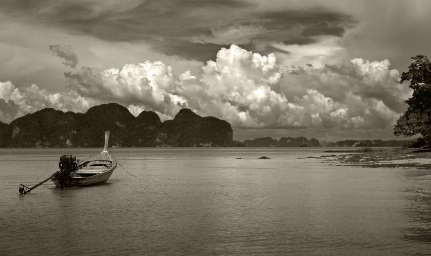 """фото """"Лодка и облако"""" метки: пейзаж, путешествия, Австралия"""