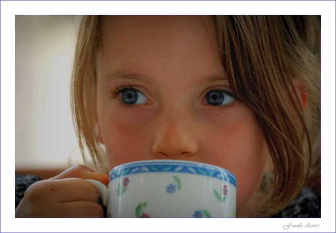 "photo ""My coffee moment."" tags: portrait, children"