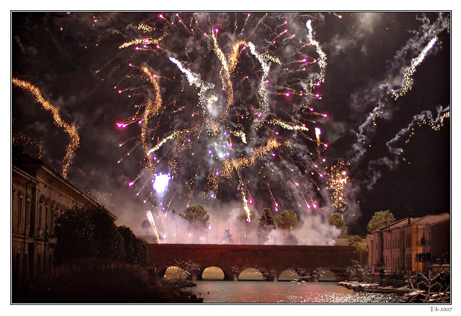"photo ""Fireworks 1"" tags: landscape, night, water"