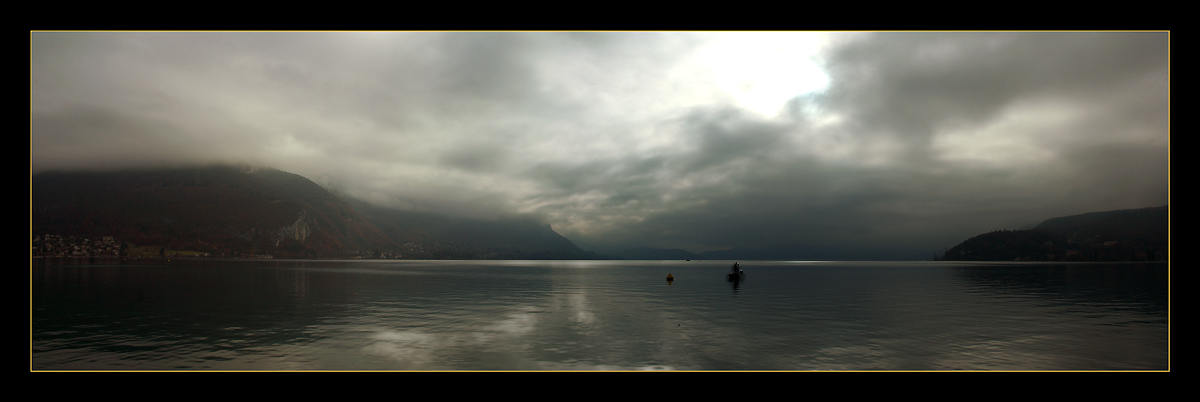 "photo ""The Loneliness of the Fisherman"" tags: panoramic, landscape, autumn"