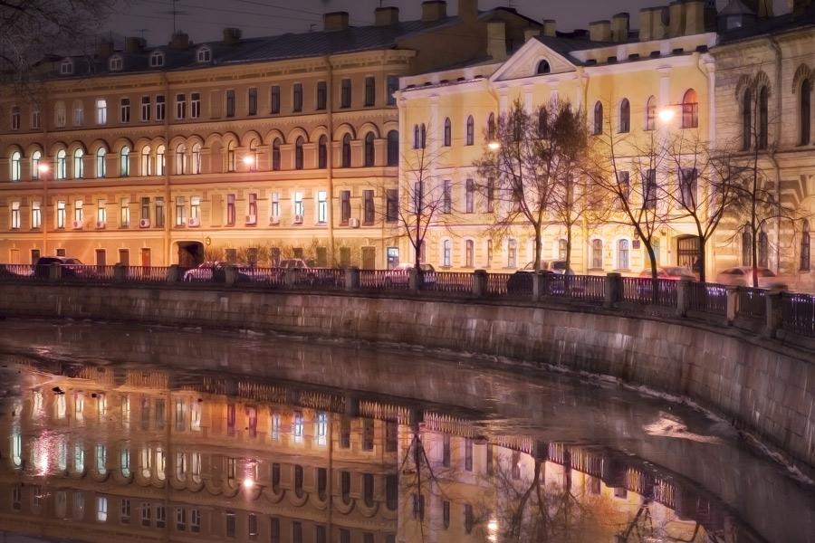 """фото """"Вечером на канале"""" метки: город,"""