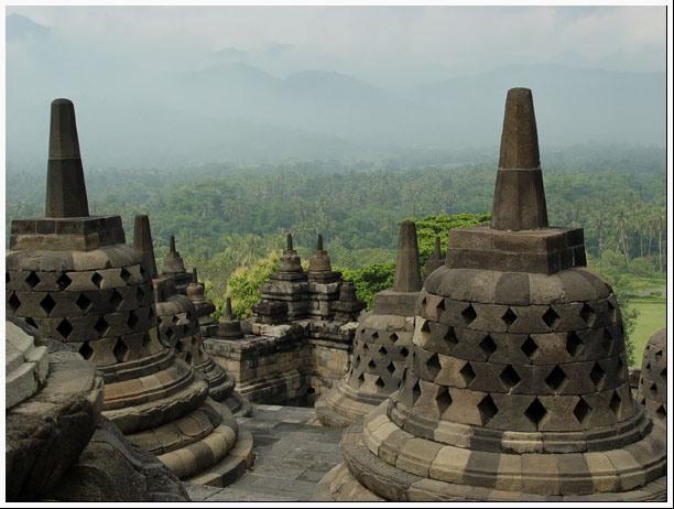 """фото """"Храм Бурубудур."""" метки: путешествия, пейзаж,"""