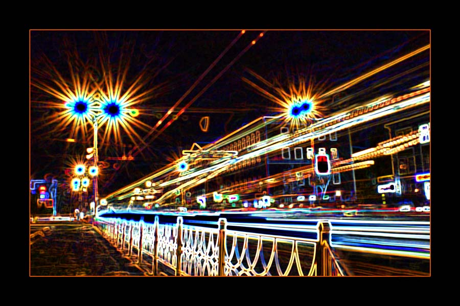"photo ""The Lights..."" tags: city,"
