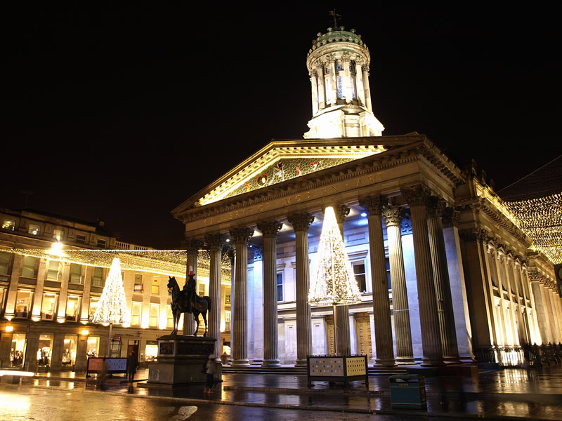 "photo ""Christmas Lights in Glasgow"" tags: architecture, landscape, night"