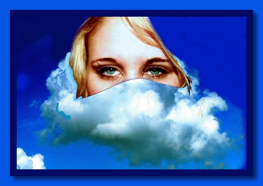 """фото """"Esther in clouds"""" метки: фотомонтаж,"""