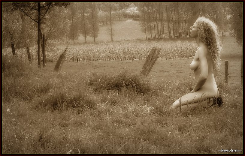 "photo ""It was a spring day"" tags: portrait, nude, woman"