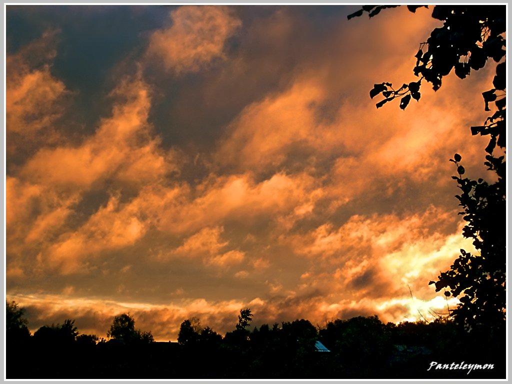 """фото """"небесный пожар"""" метки: пейзаж, осень"""