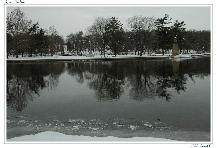 "photo ""Across The River"" tags: landscape, water, winter"