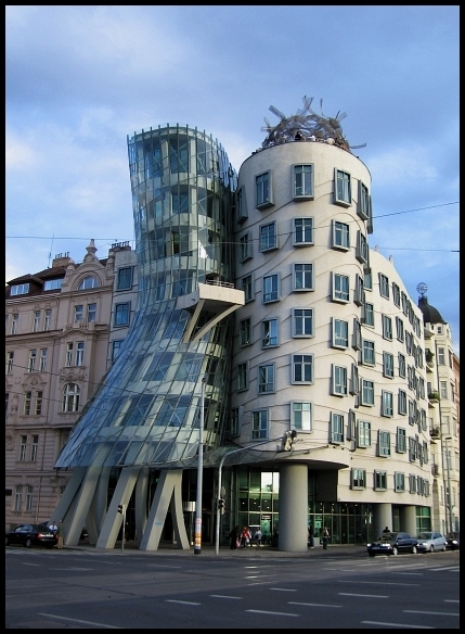 "photo ""dancing house..."" tags: travel, misc., Europe"